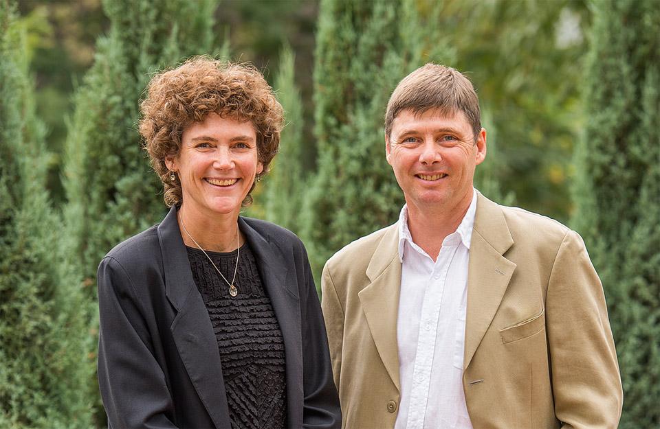 Anne Desjardins and Mathew Evans